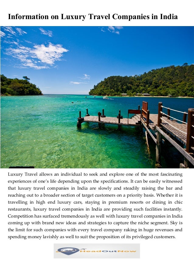 2. Information On Luxury Travel Companies ...