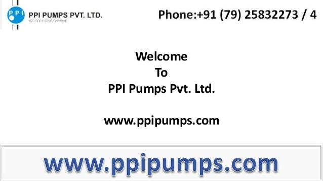 WelcomeToPPI Pumps Pvt. Ltd.www.ppipumps.com