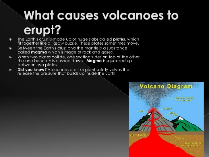 cause and effect of volcano eruption On may 3, an eruption from hawaii's kilauea volcano forced more than a  thousand island  less gas and more viscous magma usually mean a less  dramatic eruption, often causing streams of lava to ooze from the vent   women of impact.