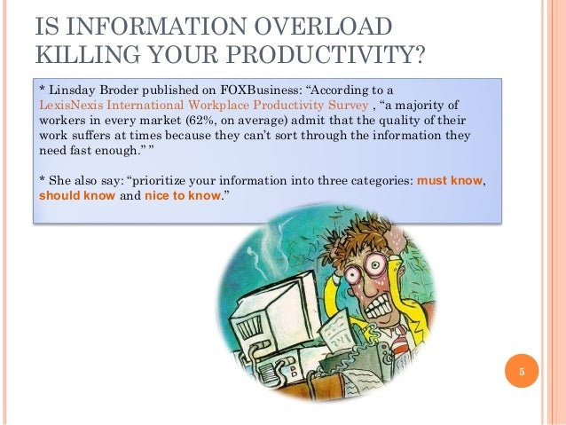 the causes of information overload Information overload: context and causes david allen information systems  institute, university of salford, salford m5 4wt, uk e-mail: david_k_allen@ic24 net.