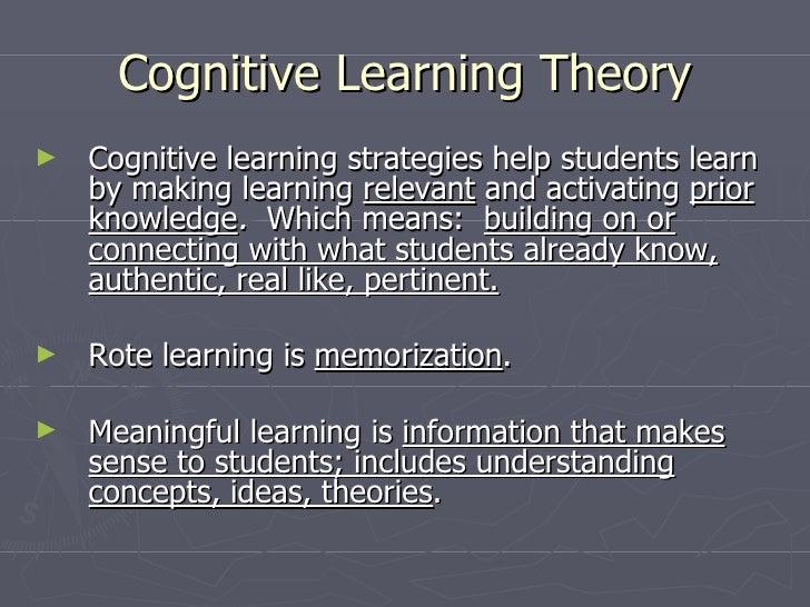understanding the theories of cognitive process Understanding adult development is an important step in the process of understanding  jean overview of child development cognitive theories beliefs.