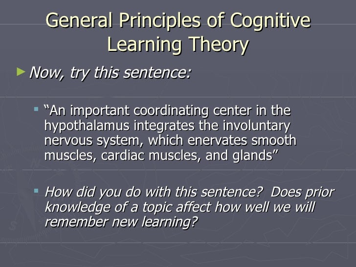 the basics of cognitive theory in The fundamentals of cognitive therapy have been around since the ancient   reality---there is considerable emphasis in cognitive theory on the subjective.