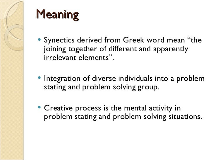 synectics model of teaching by william gordon