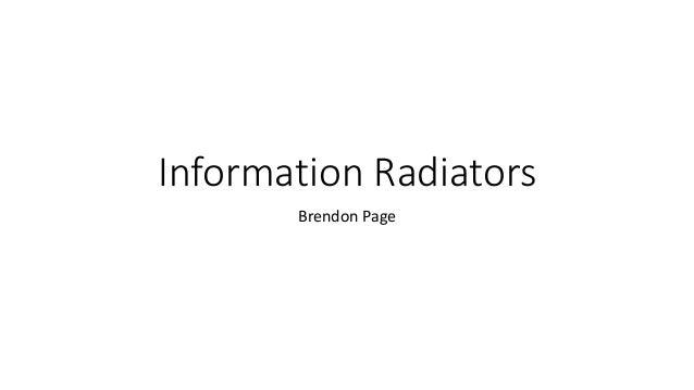 Information Radiators Brendon Page