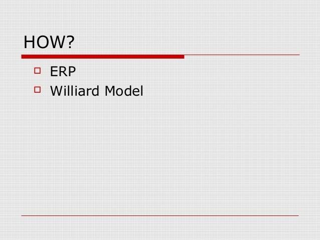 HOW?  ERP  Williard Model