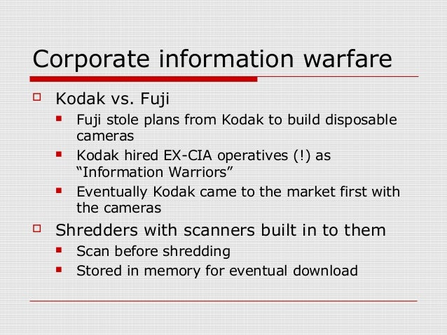 """Corporate information warfare  """"Business is War"""" – Old Japanese proverb"""