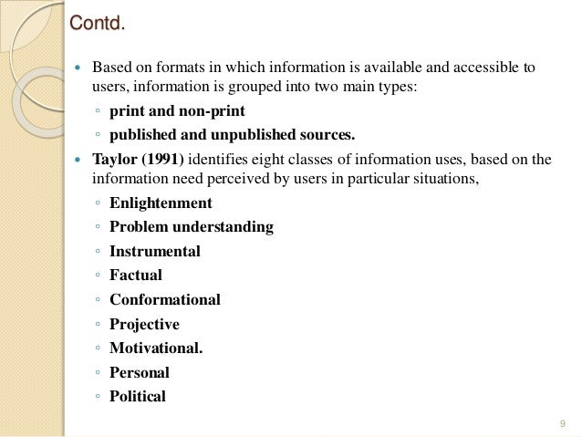 management of information resources and control system