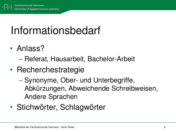 Informationsbeschaffung für BW Slide 2
