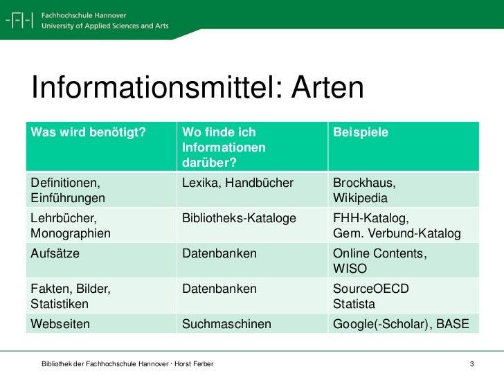 Informationsbeschaffung für BW Slide 3