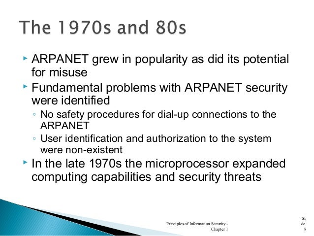 what was important about rand report r 609 7 r-609 information security began with rand report r-609 (paper that started the study of computer security) scope of computer security grew from physical security to include: safety of data it is important to note that the same computer can be both the subject and object of an attack, especially in multi-user systems.