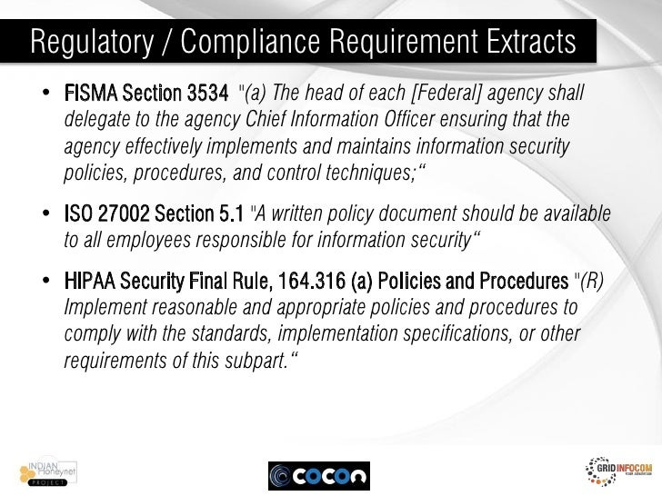 lab align compliance requirements to fisma Integrated compliance security controls and information security governance • fisma objectives: align security ensures all compliance requirements.