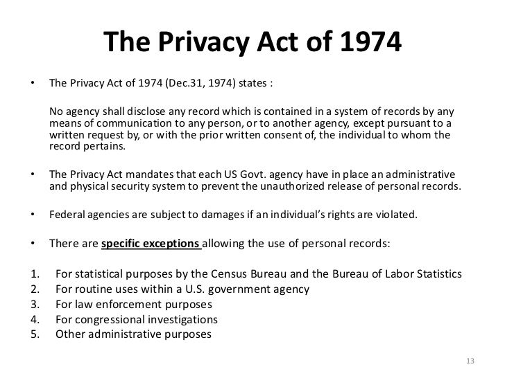 Privacy Act Release Form. Information Security And Privacy