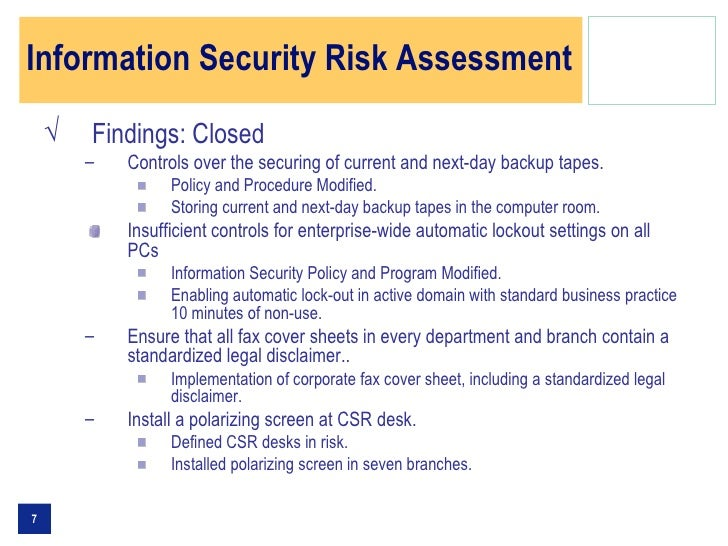 Information Security Committee Presentation Sample