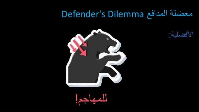 األفضلية: للمهاجم! المدافع معضلةDefender's Dilemma