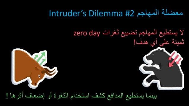 المهاجم معضلةIntruder's Dilemma #2 ثغرات تضييع المهاجم يستطيع الzero day هدف أي على ثمينة! أثرها ...