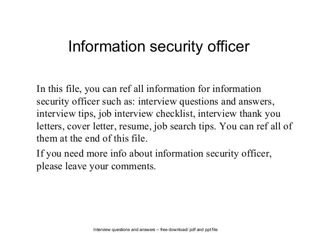 Information security officer