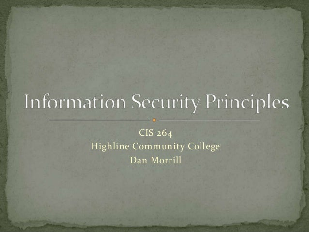 CIS 264Highline Community College        Dan Morrill
