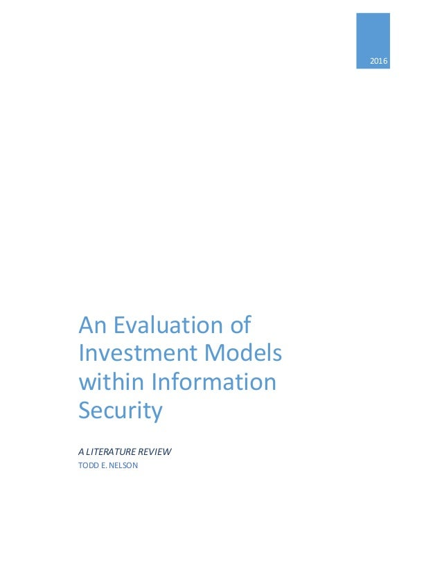 information security evaluation paper Evaluations in lab tests determine whether an it product or system provides  suitable security measures and accurately and effectively complies with the  user's.