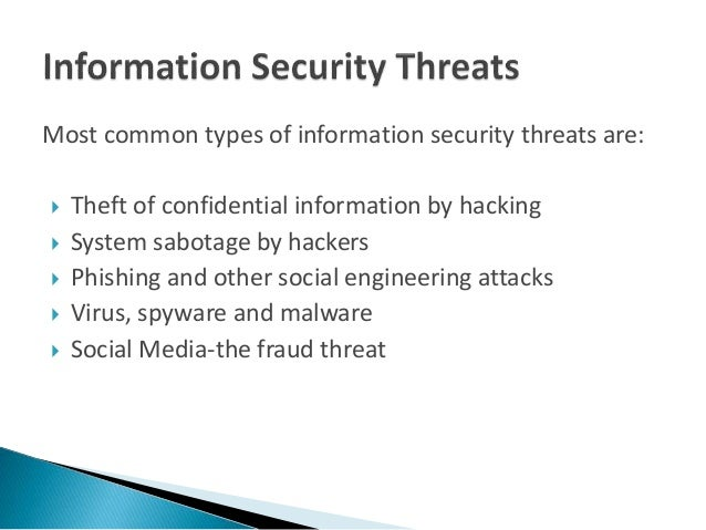 common information security threats essay
