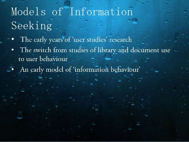information seeking behaviour in digital environment Prensky's distinction between people who are entirely at ease within a digital environment in information-seeking, resident behaviour is information-seeking.