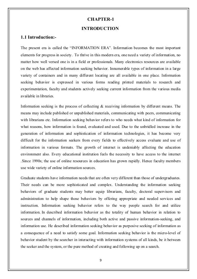 a study of the information seeking behavior of undergraduate students essay Undergraduate research independent study prospective students seeking information specifically related to diversity are encouraged to email.