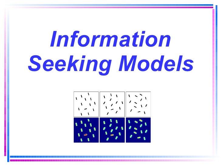 Information Seeking Models