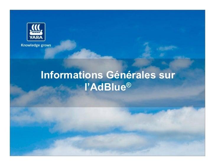Informations Générales sur         l'AdBlue®