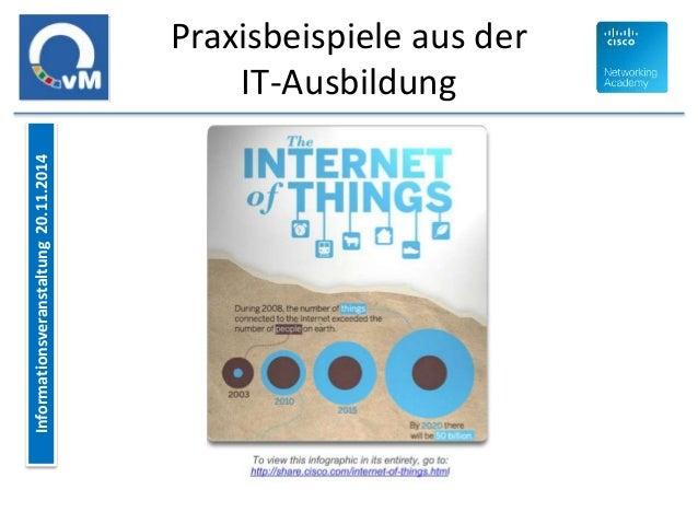 Informationsveranstaltung 20.11.2014  Praxisbeispiele aus der  IT-Ausbildung