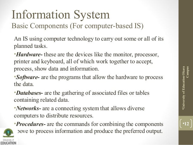 Lecture 2: Information system