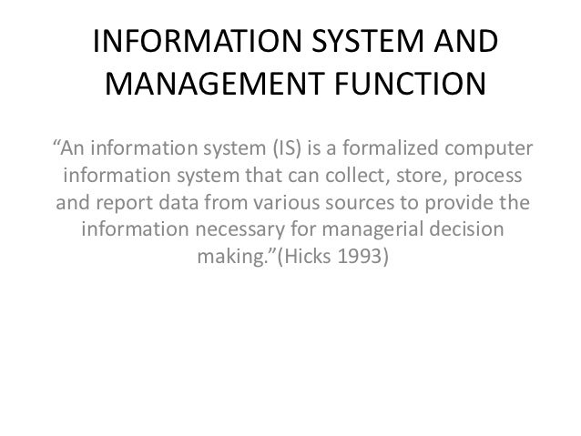 purpose of management information The purpose of management accounting in the you have likely noticed that the goals of management accounting information provided to the management and.