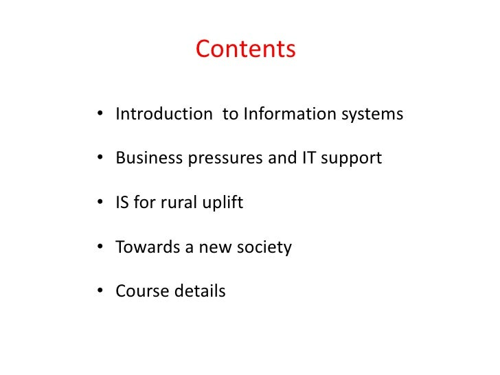 an introduction to the information and related systems in business The business model for information security is based on research conducted by the university of business evolution and systems thinking provides the context in which frameworks such as control objectives for information and related technology.