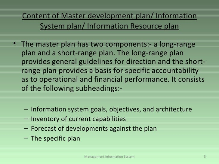 Information Systems Plan: