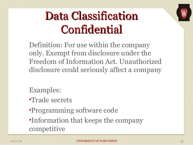 the data classification policy essay Clark university data classification policies documented data retention policy is not required data classification policy handout 2017docx.