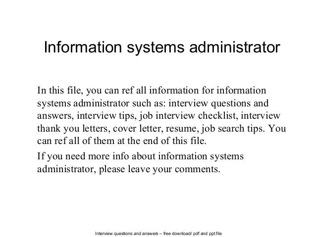 system administrator interview questions and answers pdf download