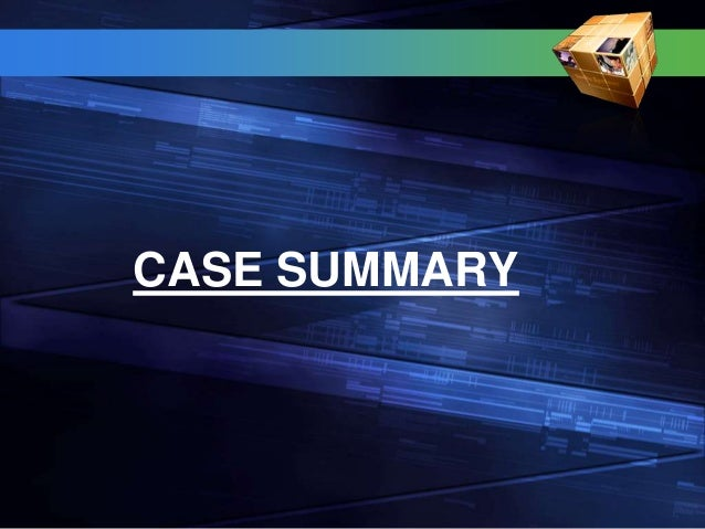 case summary 3