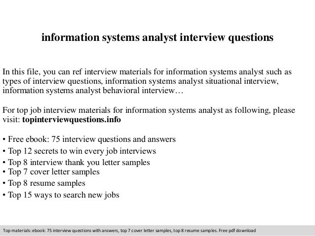 system analysis interview questions