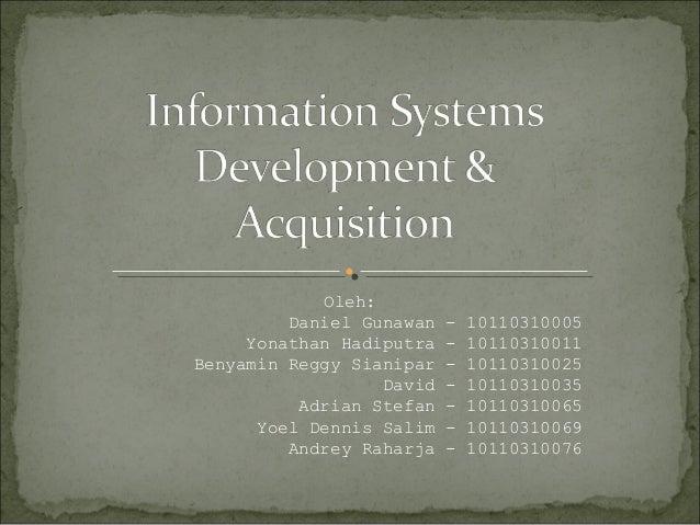 Oleh: Daniel Gunawan - 10110310005 Yonathan Hadiputra - 10110310011 Benyamin Reggy Sianipar - 10110310025 David - 10110310...