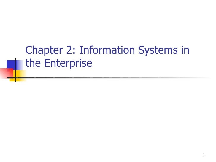 Chapter 2: Information Systems in the Enterprise