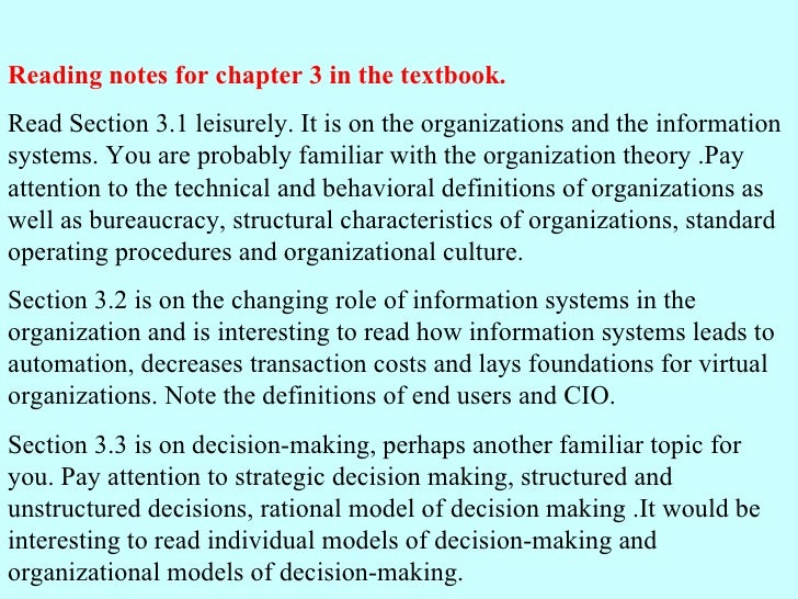Reading notes for chapter 3 in the textbook. Read Section 3.1 leisurely. It is on the organizations and the information sy...