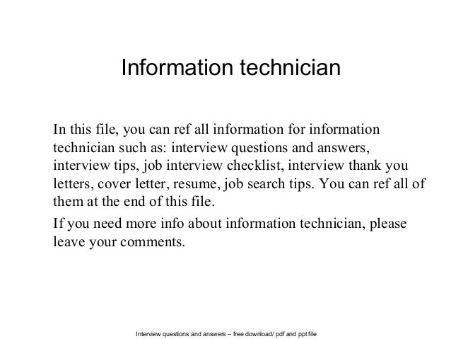 mechanical technician interview questions and answers pdf