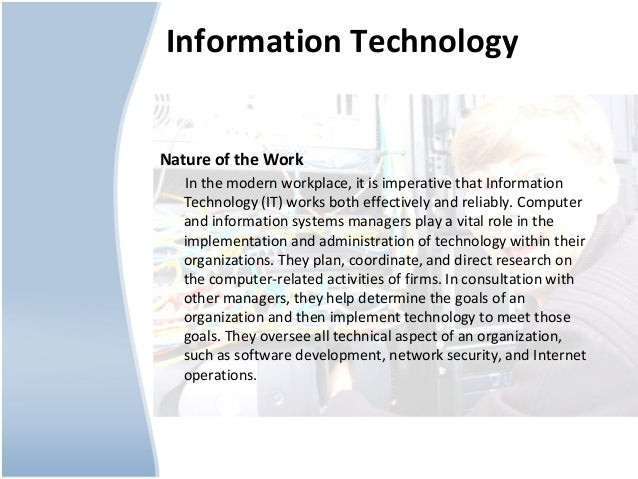 Technology Management Image: Information Technology Career Path