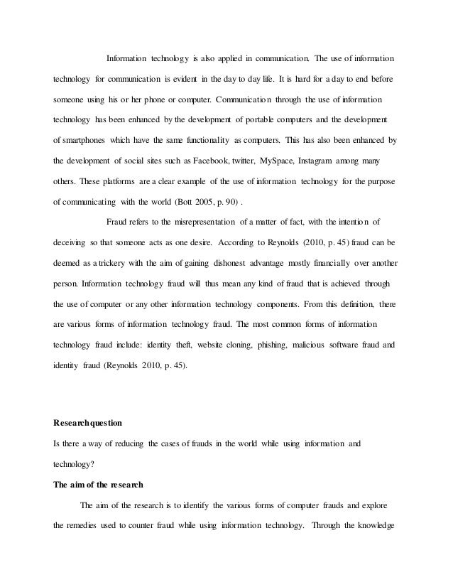 Information technology essay in simple words