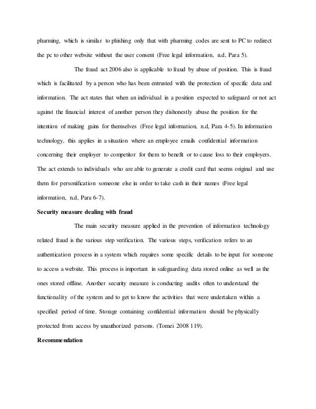 information technology essay sample  information technology fraud referred to as 9