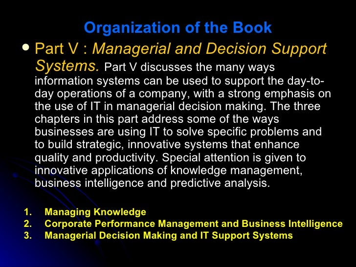 Technology Management Decisions: Information Technology For Management (6th Edition