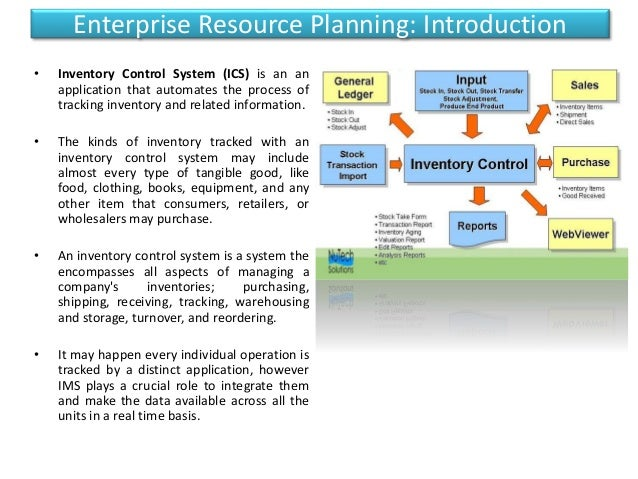 enterprise resource planning and information technology Requirement planning) system with the integration of information between  vendor  the other important enabling technologies for erp systems are  workflow.
