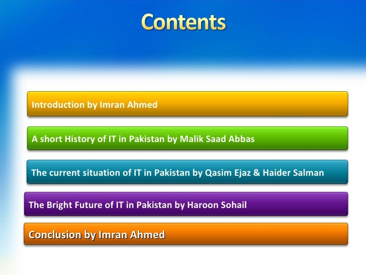 essay on information technology in pakistan