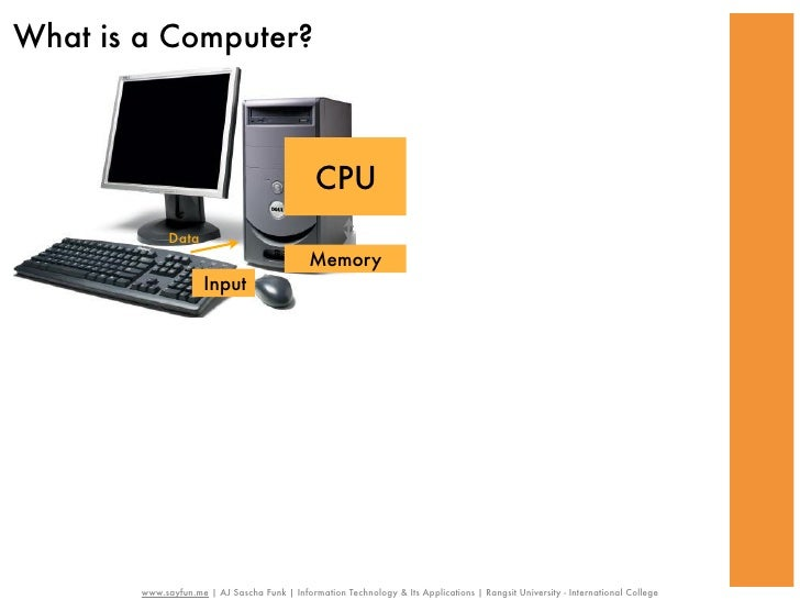 What is a Computer?                                               CPU              Data                                   ...