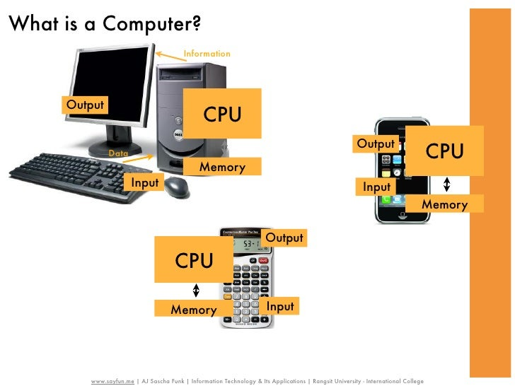 What is a Computer?                                         Information     Output                                        ...