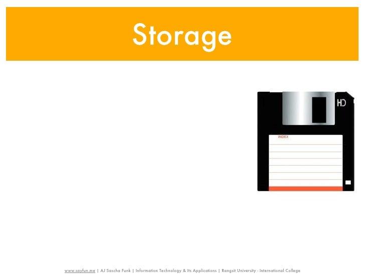 Storagewww.sayfun.me | AJ Sascha Funk | Information Technology & Its Applications | Rangsit University - International Col...