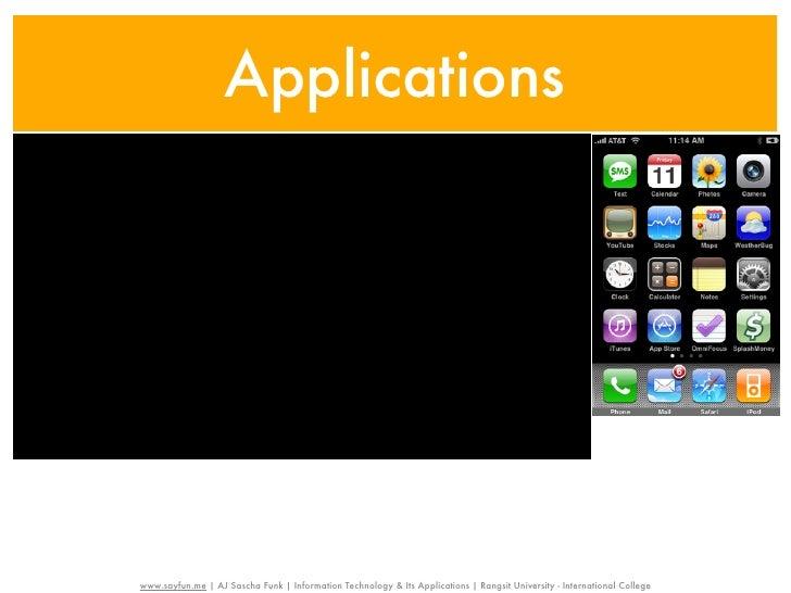 Applicationswww.sayfun.me | AJ Sascha Funk | Information Technology & Its Applications | Rangsit University - Internationa...